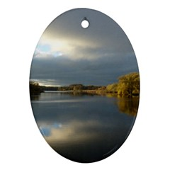 View   On The Lake Ornament (oval)