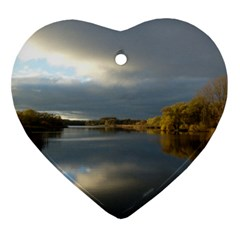 View   On The Lake Ornament (heart)  by Costasonlineshop