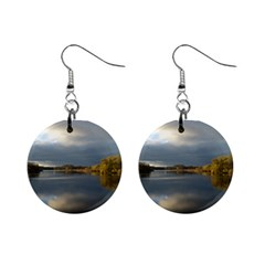 View   On The Lake Mini Button Earrings