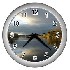 View   On The Lake Wall Clocks (silver)