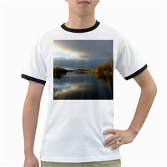 View   On The Lake Ringer T Shirts by Costasonlineshop