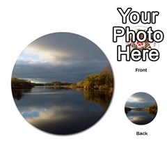 View   On The Lake Multi Purpose Cards (round)  by Costasonlineshop