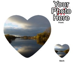 View   On The Lake Multi Purpose Cards (heart)  by Costasonlineshop