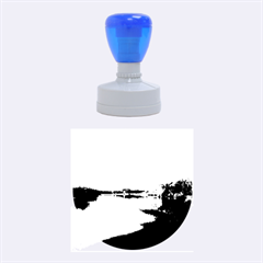 View   On The Lake Rubber Round Stamps (medium) by Costasonlineshop