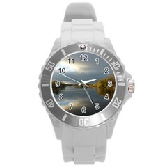View   On The Lake Round Plastic Sport Watch (l) by Costasonlineshop
