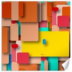 Rounded Rectangles Canvas 12  X 12   by hennigdesign