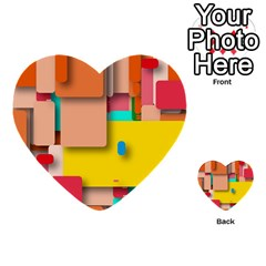 Rounded Rectangles Multi Purpose Cards (heart)  by hennigdesign