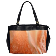 Floating Peach Office Handbags (2 Sides)  by timelessartoncanvas