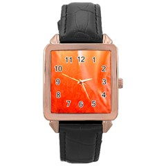 Floating Orange Rose Gold Watches by timelessartoncanvas