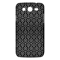 Hexagon1 Black Marble & Silver Brushed Metal Samsung Galaxy Mega 5 8 I9152 Hardshell Case  by trendistuff