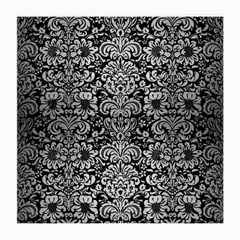 Damask2 Black Marble & Silver Brushed Metal Medium Glasses Cloth by trendistuff