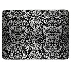 Damask2 Black Marble & Silver Brushed Metal Samsung Galaxy Tab 7  P1000 Flip Case by trendistuff