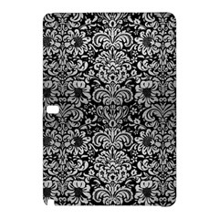 Damask2 Black Marble & Silver Brushed Metal Samsung Galaxy Tab Pro 10 1 Hardshell Case by trendistuff