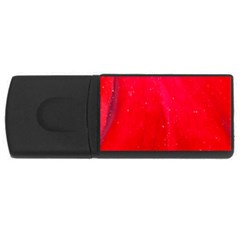 Red And Beautiful Usb Flash Drive Rectangular (4 Gb)  by timelessartoncanvas