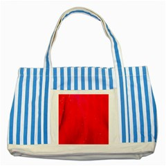 Red and Beautiful Striped Blue Tote Bag by timelessartoncanvas