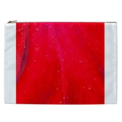 Red And Beautiful Cosmetic Bag (xxl)  by timelessartoncanvas