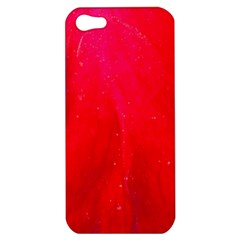 Red And Beautiful Apple Iphone 5 Hardshell Case by timelessartoncanvas