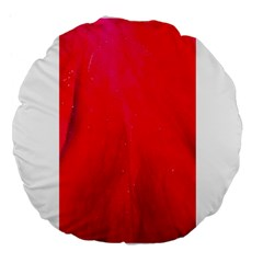 Red And Beautiful Large 18  Premium Flano Round Cushions by timelessartoncanvas