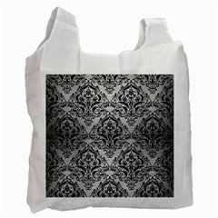 DMS1 BK MARBLE SILVER (R) Recycle Bag (Two Side)  by trendistuff
