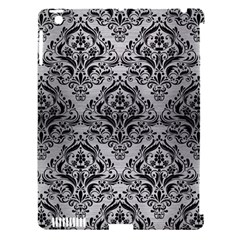 Damask1 Black Marble & Silver Brushed Metal (r) Apple Ipad 3/4 Hardshell Case (compatible With Smart Cover) by trendistuff