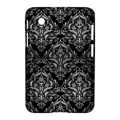 Damask1 Black Marble & Silver Brushed Metal Samsung Galaxy Tab 2 (7 ) P3100 Hardshell Case  by trendistuff