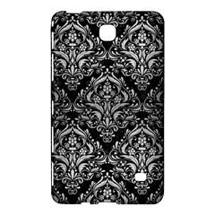 Damask1 Black Marble & Silver Brushed Metal Samsung Galaxy Tab 4 (7 ) Hardshell Case  by trendistuff