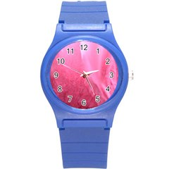 Floating Pink Round Plastic Sport Watch (s) by timelessartoncanvas