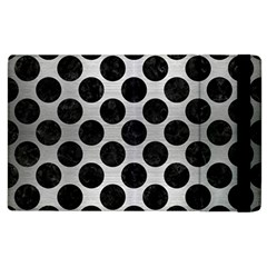Circles2 Black Marble & Silver Brushed Metal (r) Apple Ipad 3/4 Flip Case by trendistuff
