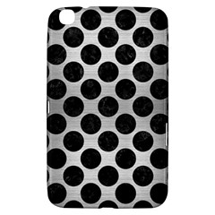 Circles2 Black Marble & Silver Brushed Metal (r) Samsung Galaxy Tab 3 (8 ) T3100 Hardshell Case  by trendistuff