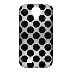 Circles2 Black Marble & Silver Brushed Metal (r) Samsung Galaxy S4 Classic Hardshell Case (pc+silicone) by trendistuff