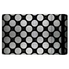 Circles2 Black Marble & Silver Brushed Metal Apple Ipad 2 Flip Case by trendistuff