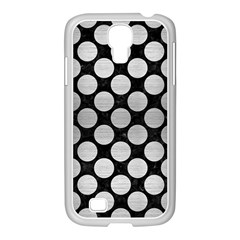 Circles2 Black Marble & Silver Brushed Metal Samsung Galaxy S4 I9500/ I9505 Case (white) by trendistuff