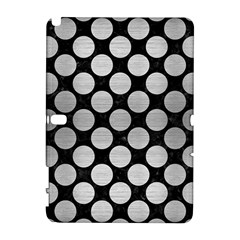 Circles2 Black Marble & Silver Brushed Metal Samsung Galaxy Note 10 1 (p600) Hardshell Case by trendistuff