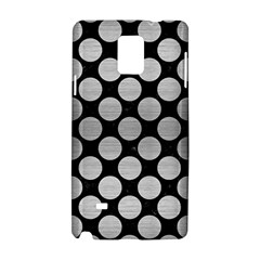 Circles2 Black Marble & Silver Brushed Metal Samsung Galaxy Note 4 Hardshell Case by trendistuff