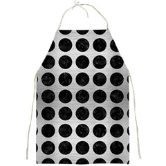Circles1 Black Marble & Silver Brushed Metal (r) Full Print Apron by trendistuff