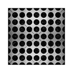 Circles1 Black Marble & Silver Brushed Metal (r) Acrylic Tangram Puzzle (6  X 6 ) by trendistuff