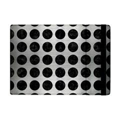 Circles1 Black Marble & Silver Brushed Metal (r) Apple Ipad Mini Flip Case by trendistuff
