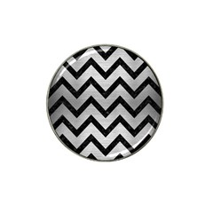 Chevron9 Black Marble & Silver Brushed Metal (r) Hat Clip Ball Marker (10 Pack) by trendistuff