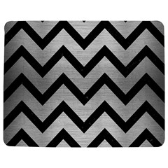 Chevron9 Black Marble & Silver Brushed Metal (r) Jigsaw Puzzle Photo Stand (rectangular)