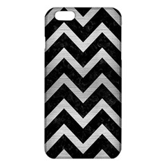 Chevron9 Black Marble & Silver Brushed Metal Iphone 6 Plus/6s Plus Tpu Case