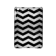 Chevron3 Black Marble & Silver Brushed Metal Apple Ipad Mini 2 Hardshell Case by trendistuff