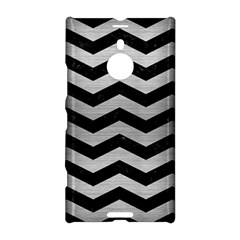 Chevron3 Black Marble & Silver Brushed Metal Nokia Lumia 1520 Hardshell Case by trendistuff