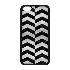 Chevron2 Black Marble & Silver Brushed Metal Apple Iphone 5c Seamless Case (black) by trendistuff
