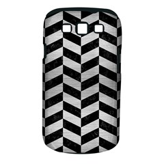 Chevron1 Black Marble & Silver Brushed Metal Samsung Galaxy S Iii Classic Hardshell Case (pc+silicone) by trendistuff