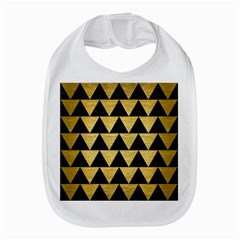 Triangle2 Black Marble & Gold Brushed Metal Bib by trendistuff