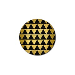 Triangle2 Black Marble & Gold Brushed Metal Golf Ball Marker (4 Pack) by trendistuff