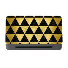 Triangle3 Black Marble & Gold Brushed Metal Memory Card Reader With Cf by trendistuff