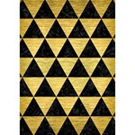 TRIANGLE3 BLACK MARBLE & GOLD BRUSHED METAL You Rock 3D Greeting Card (7x5) Inside