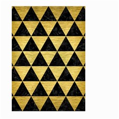 Triangle3 Black Marble & Gold Brushed Metal Large Garden Flag (two Sides) by trendistuff