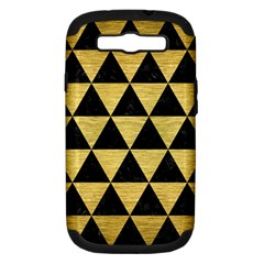 TRI3 BK MARBLE GOLD Samsung Galaxy S III Hardshell Case (PC+Silicone) by trendistuff